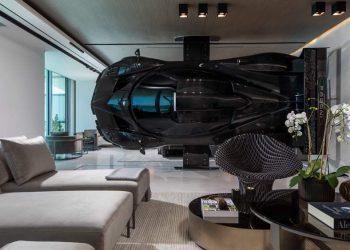 Este lujoso condominio de $8 millones en Miami tiene un super Pagani Zonda Revolution colgado en la pared de su sala