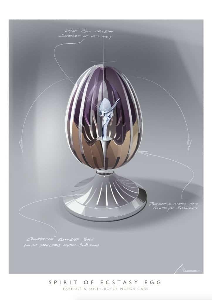 Fabergé y Rolls-Royce colaboran en la creación del famoso huevo 'Spirit Of Ecstasy'