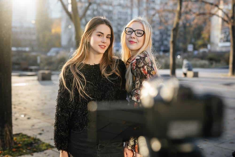 Muchachas Vloggers de YouTube