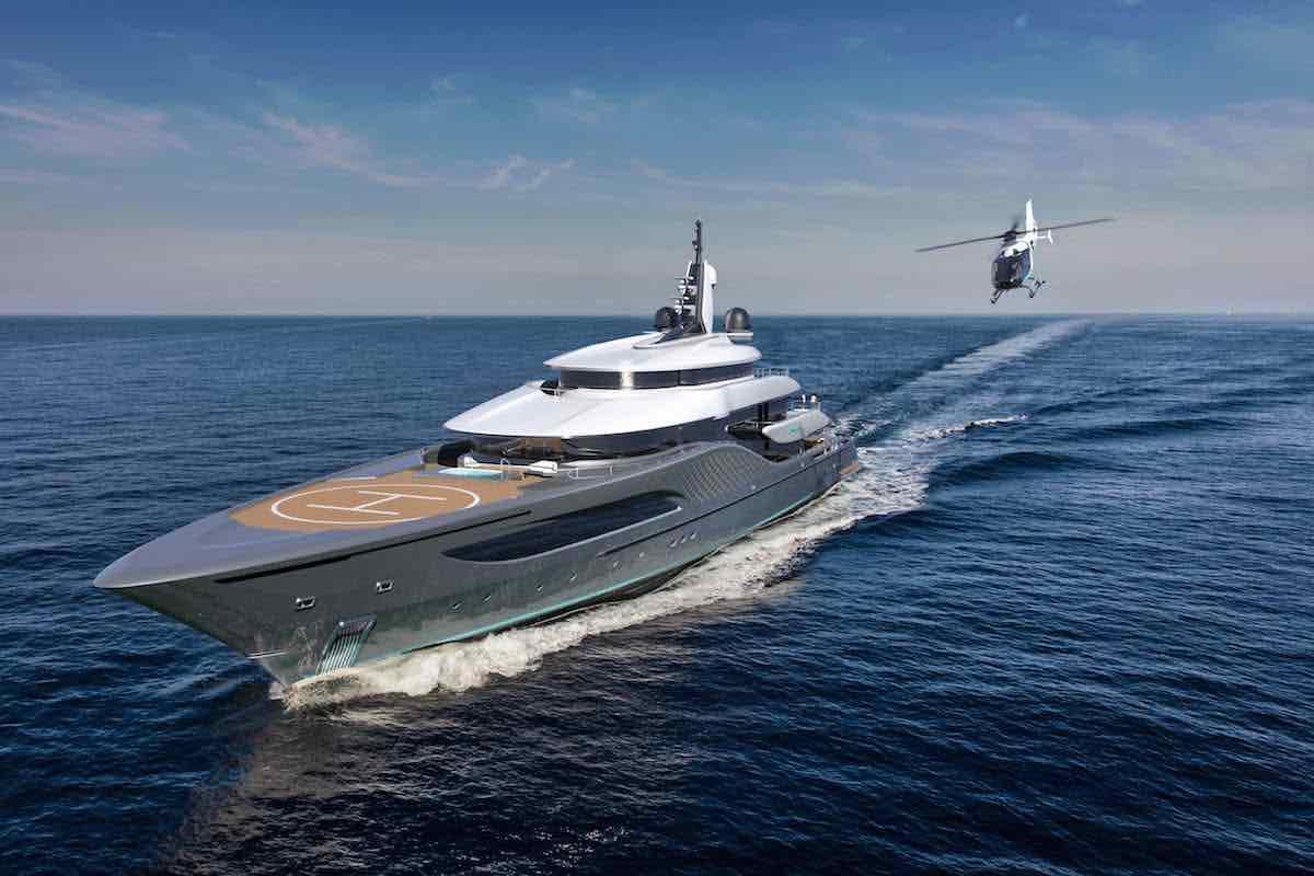 "Turquoise Yachts + Ken Freivokh presentan el concepto ""Quantum"" de 77 metros"