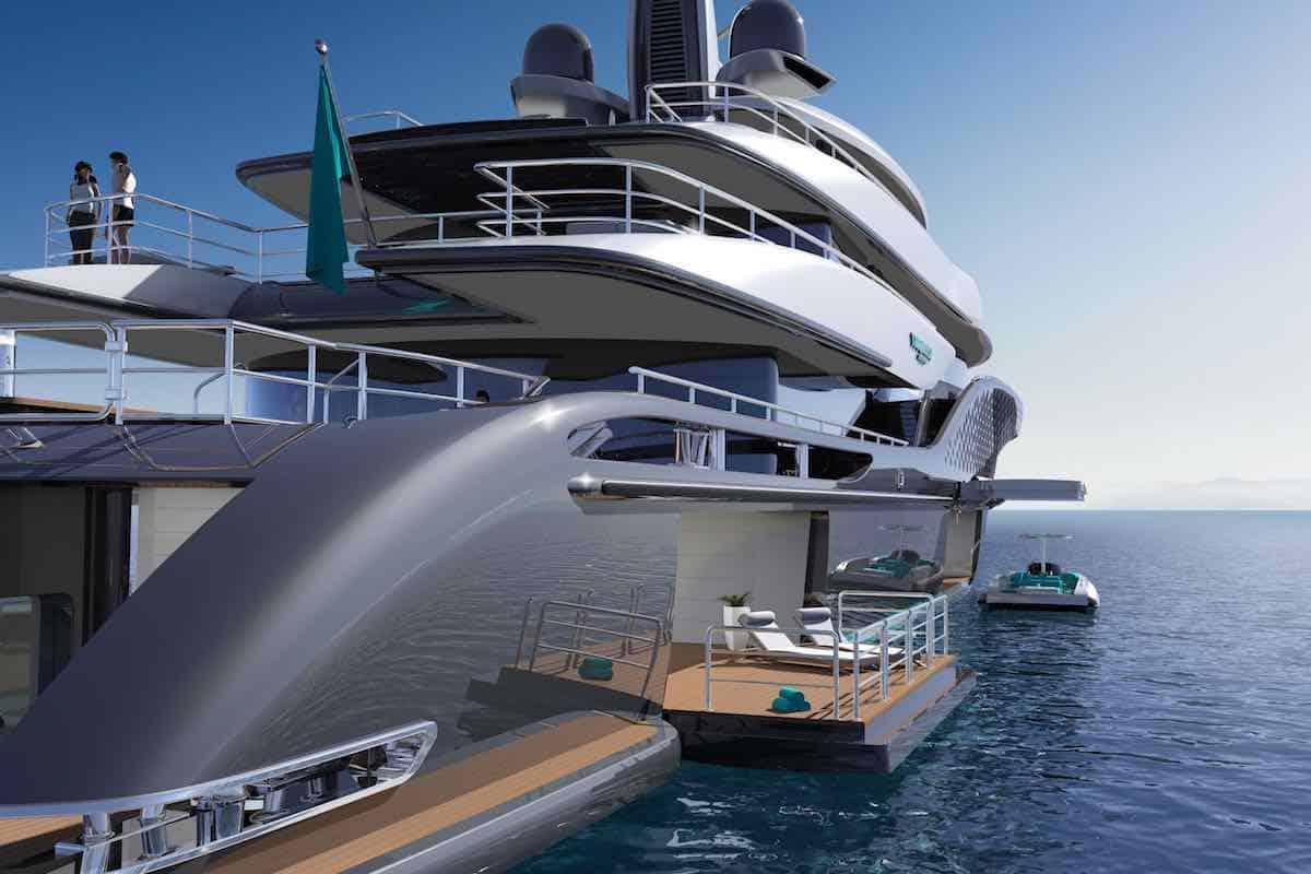 Turquoise Yachts presenta el concepto Quantum de 77 metros