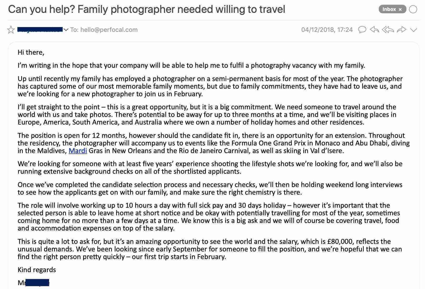 email (screenshot)