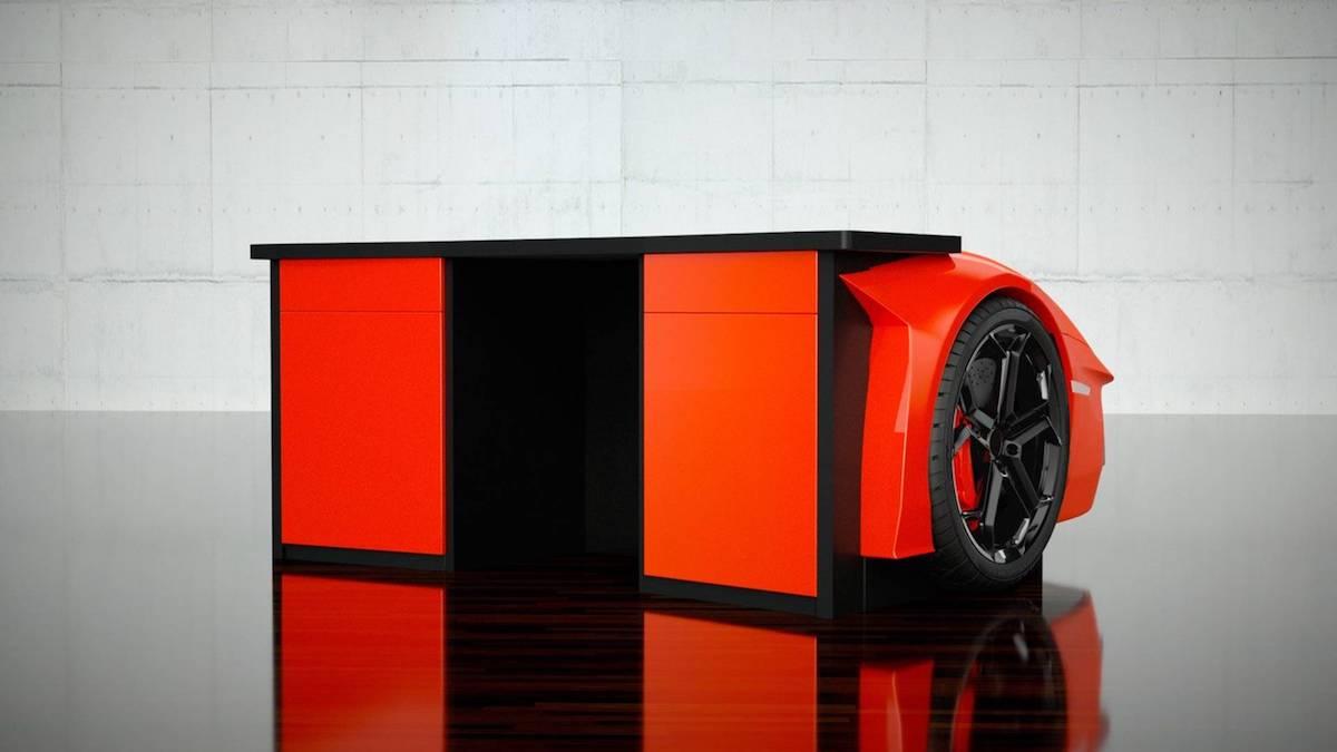Los diseños de Epicentrum, elevan estos los muebles inspirados en Lamborghini al nivel más alto