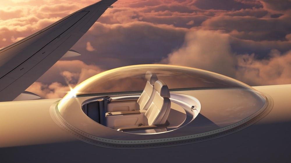 """SkyDeck: Mega deslumbrante nueva patente ofrece increíbles """"Vistas Panorámicas"""" desde asientos encima del avión"""