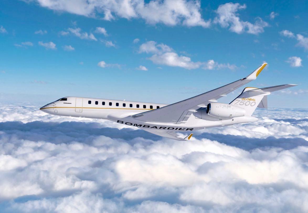 Bombardier se salió del molde con el enorme y súper lujoso avión privado Global 7500