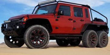 "¡BESTIAL! Jeep Wrangler Rubicon 6x6 ""Hellcat"""