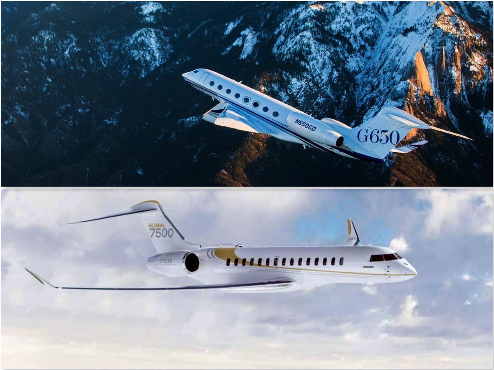 Bombardier Global 7500 vs Gulfstream G650: Batalla entre los mejores jets privados para conquistar los cielos