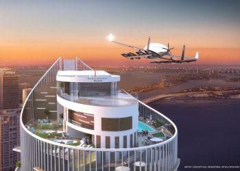PARAMOUNT Miami Worldcenter: El primer rascacielos residencial en los Estados Unidos con plataforma de aterrizaje para autos voladores