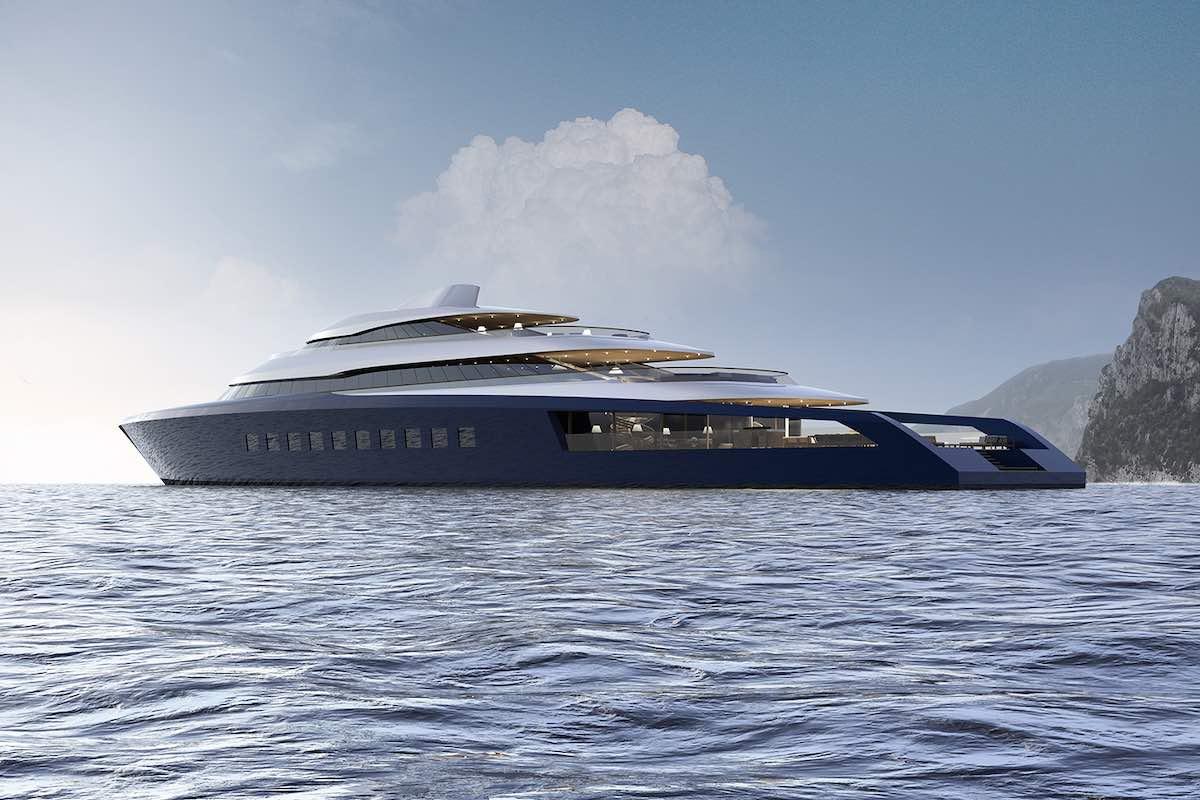 El reciente concepto de súper yate de Pastrovich Studio luce más como una casa de lujo en el mar