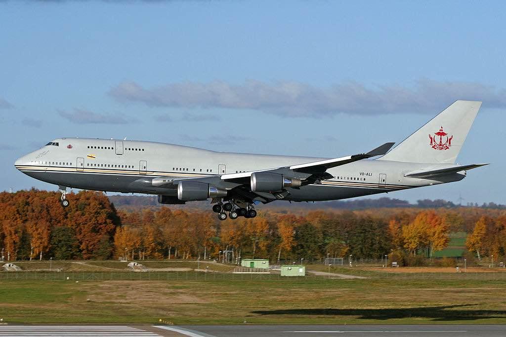 Boeing 747-430 del sultán de Brunéi