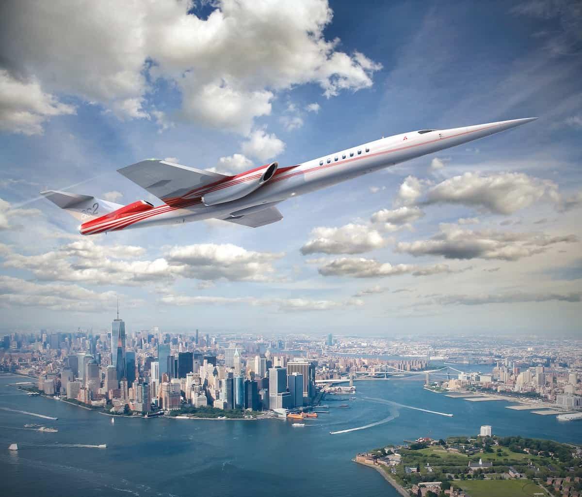 Avión supersónico AS2 por Boeing y Aerion.
