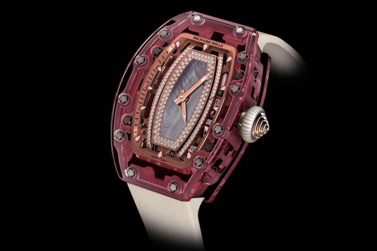 ¡Un reloj único que ellas amarán!  El Richard Mille Pink Lady Sapphire de ¡$1 MILLÓN! - Hecho con zafiro rosado, diamantes y oro rosa