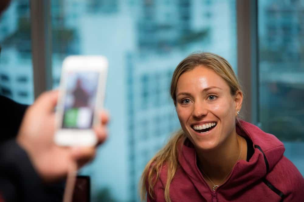 Angelique Kerber, la embajadora de Porsche habló antes de participar en el Miami Open de tenis