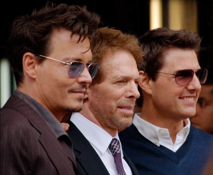 Johnny Depp, Jerry Bruckheimer y Tom Cruise