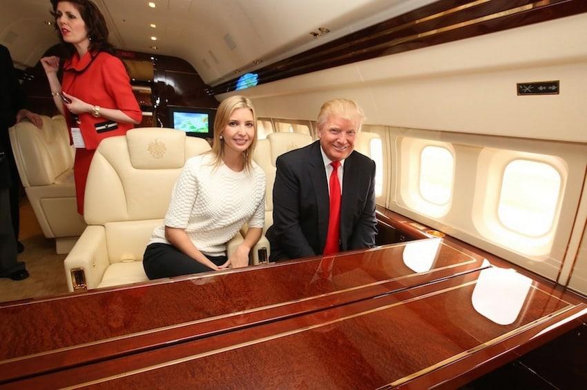 Entra al opulento avión privado donde viajaba el ahora presidente de Estados Unidos, Donald Trump