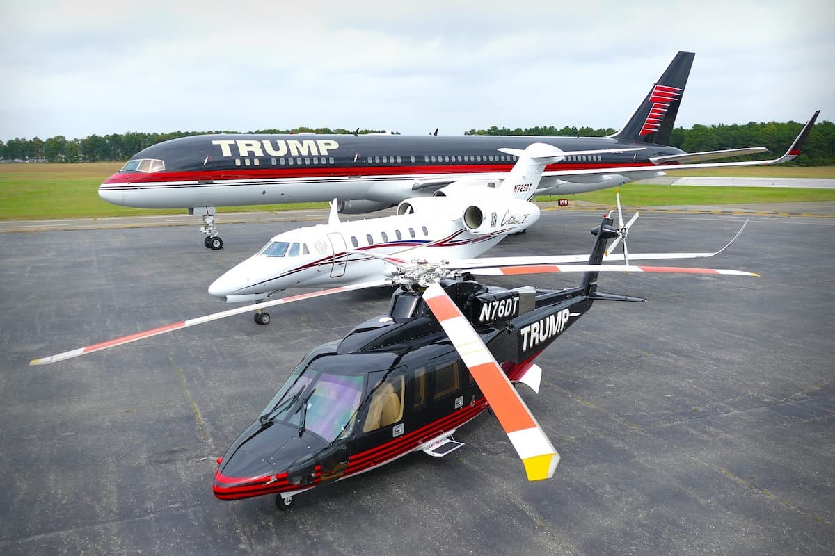 Avión privado de Donald Trump