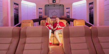 """Este exclusivo cine privado de $1,5 millones fue inspirado en la serie """"Star Trek"""" y tomó 4 años en ser construido"""