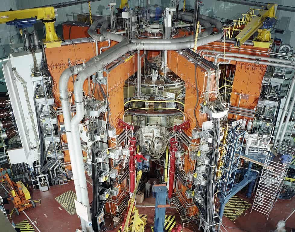 El experimento de fusión magnética JET.