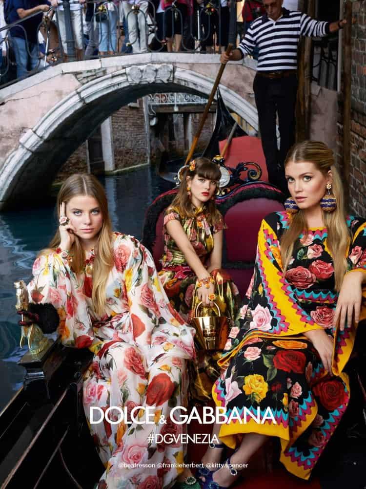 Dolce & Gabbana exhibe su glamorosa colección primavera/verano 2019 en la encantadora Venecia captada por los hermanos Morelli