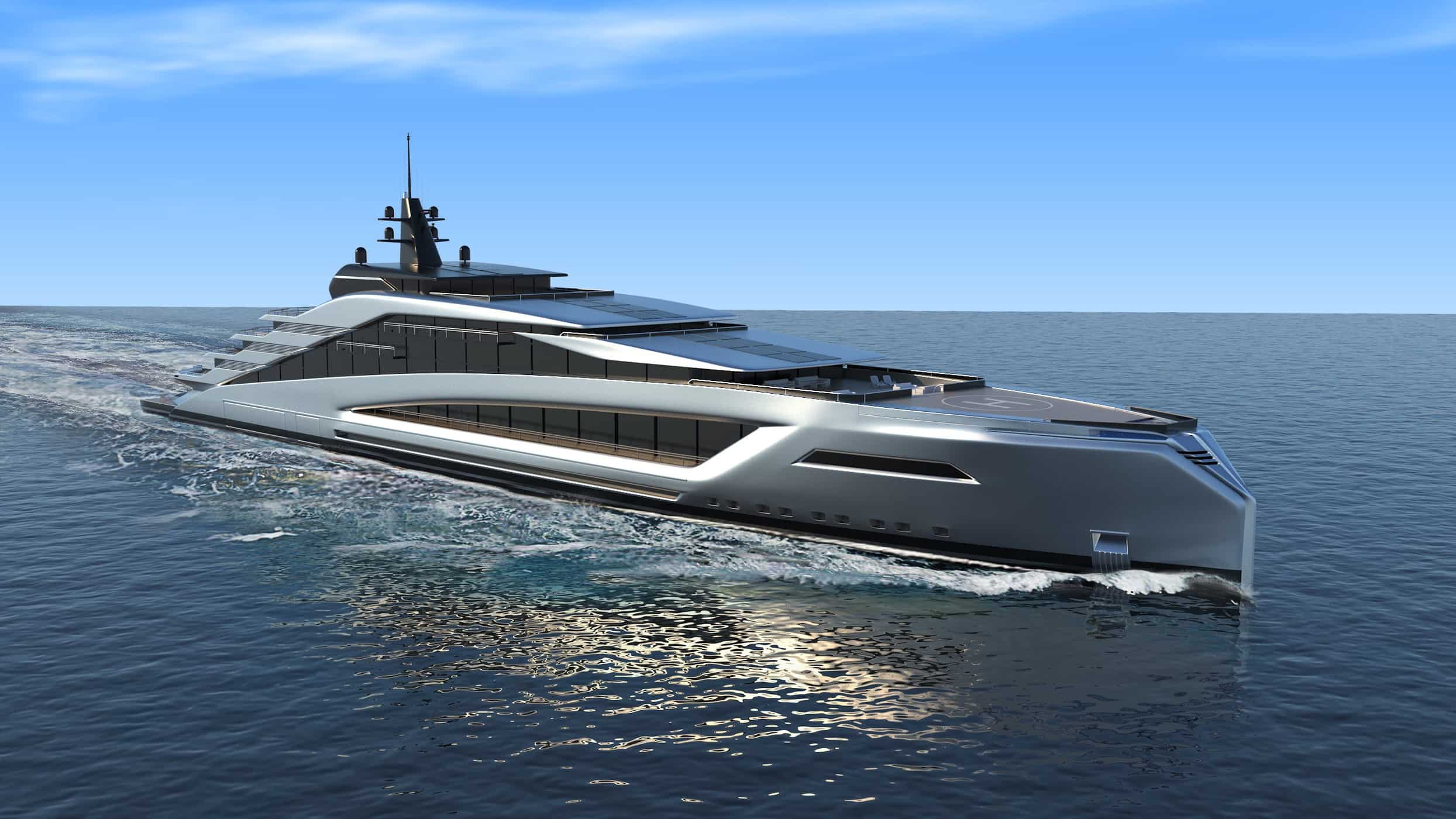 "Kurt Strand presenta a ""California"", un nuevo concepto de mega yates Strand Craft de 135 metros"
