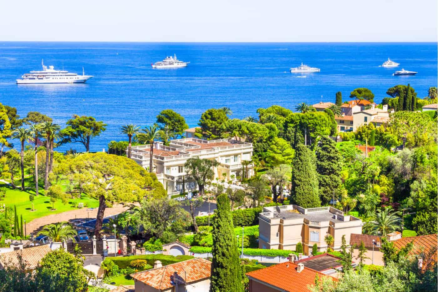 Vista aérea de Cap Ferrat, Riviera Francesa
