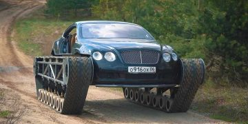 Bentley Continental GT modificado en el tanque de lujo
