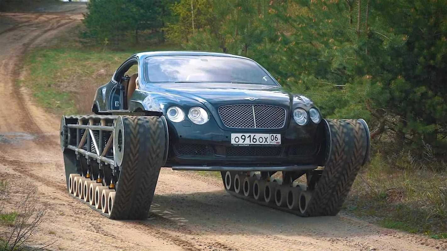 Bentley Continental GT modificado en el tanque de lujo