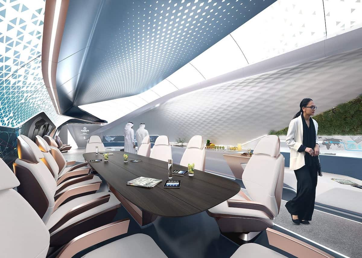 AMAC Aerospace y Pininfarina presentan nuevo concepto innovador de cabina