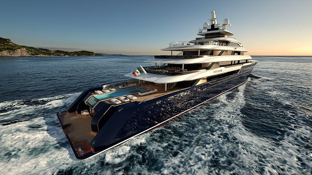 Columbus Yachts reveló el gigantesco mega yate de lujo Columbus Classic