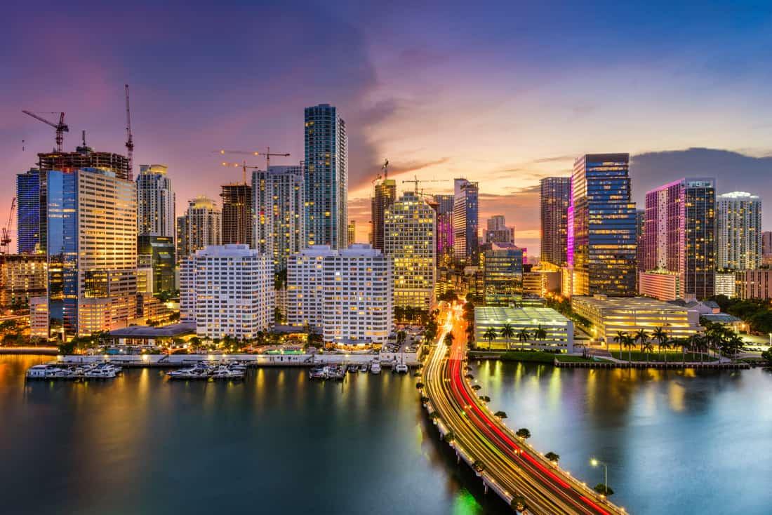 La Bahía de Biscayne, Miami, Florida