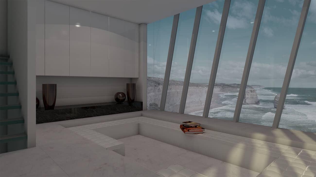 Diseño conceptual de esta belleza arquitectónica sobre la costa australiana de Victoria.