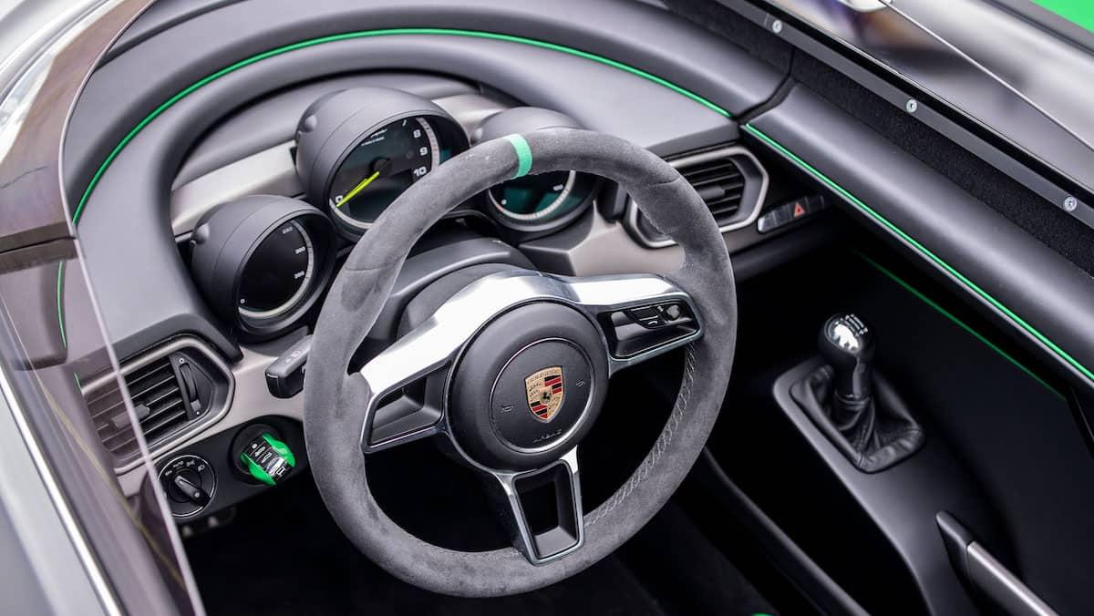 Interior del Porsche