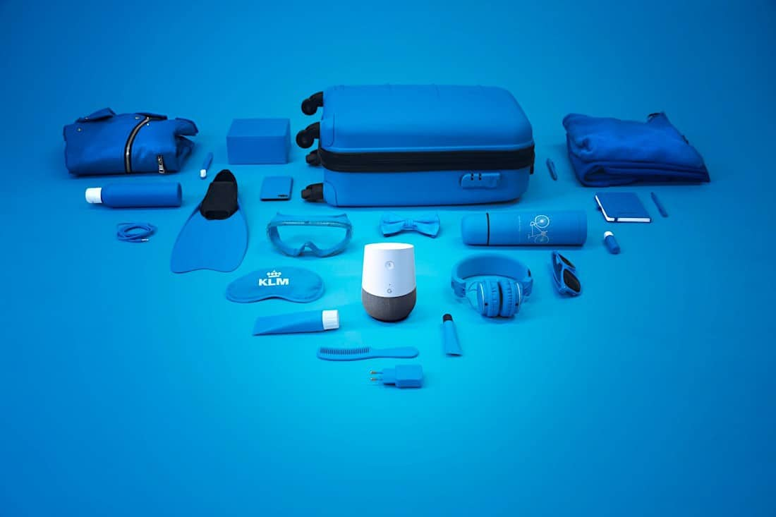 Blue Bot de Google Home en KLM