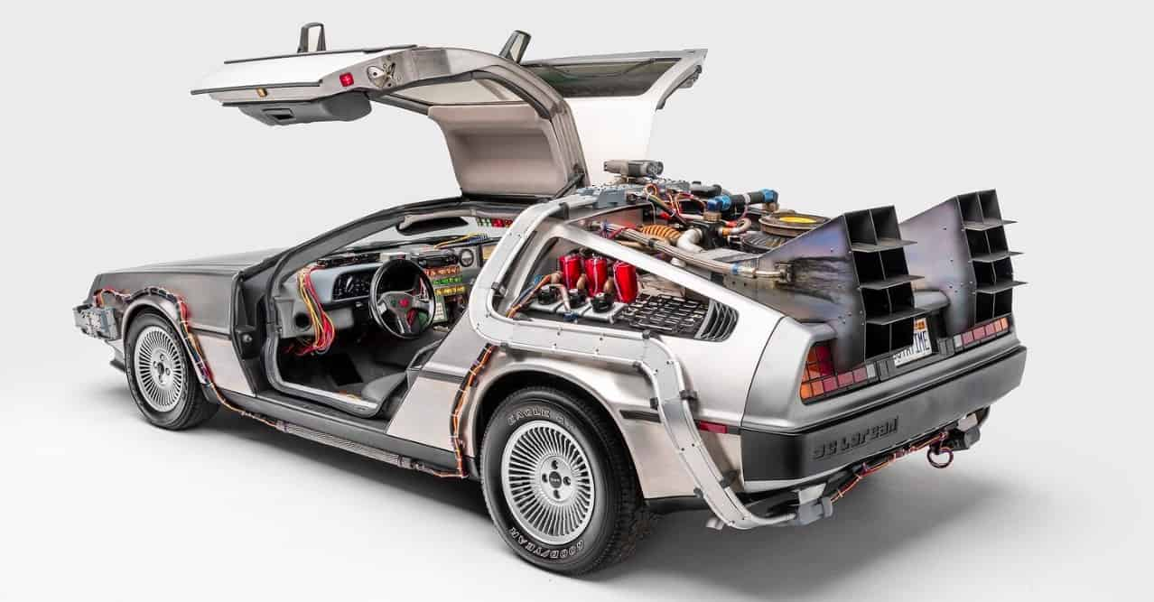 DeLorean Time Machine de Volver al Futuro (1985).