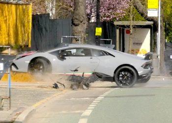 Millonario dueño de este Lamborghini Huracán lo estrella contra un árbol
