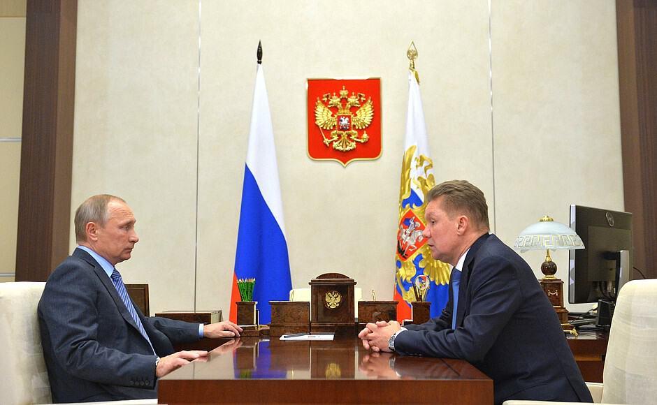 Vladimir Putin y Alexei Miller
