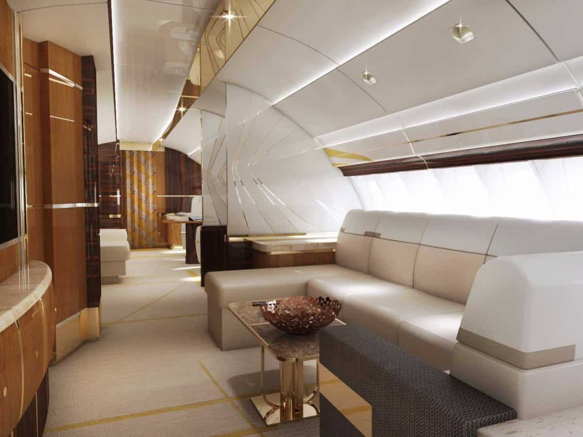 Boeing 747-8 VIP fue personalizado por Greenpoint Technologies