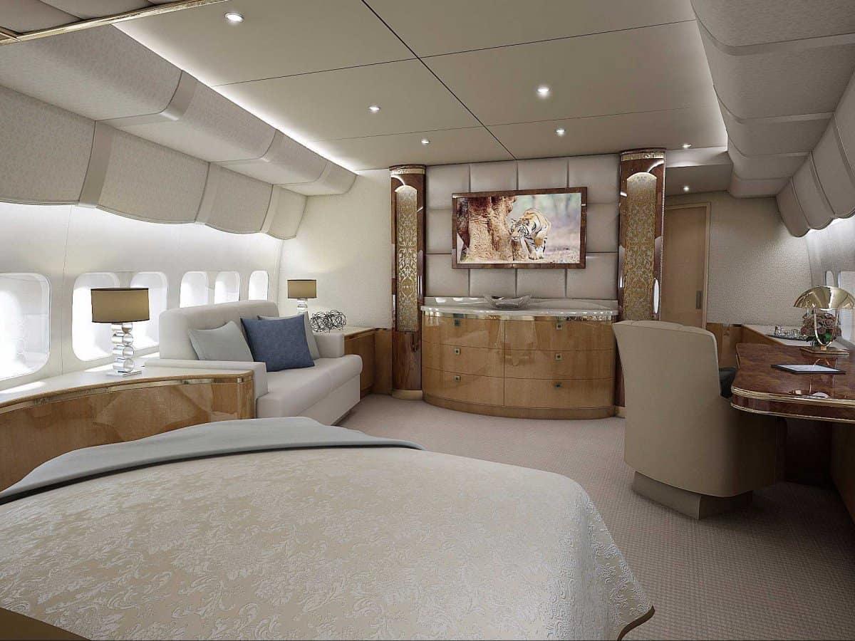Avión privado Boeing 747-8 VIP fue personalizado por Greenpoint Technologies