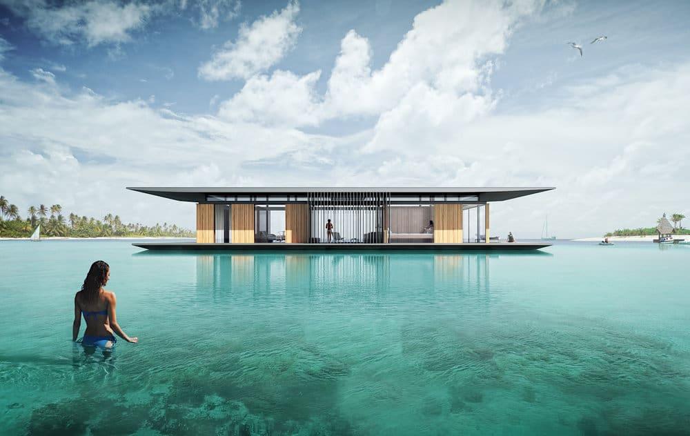 Espectacular casa flotante con increíbles vistas panorámicas al mar