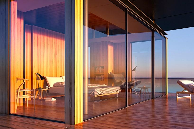 Interior con increíbles vistas panorámicas al mar