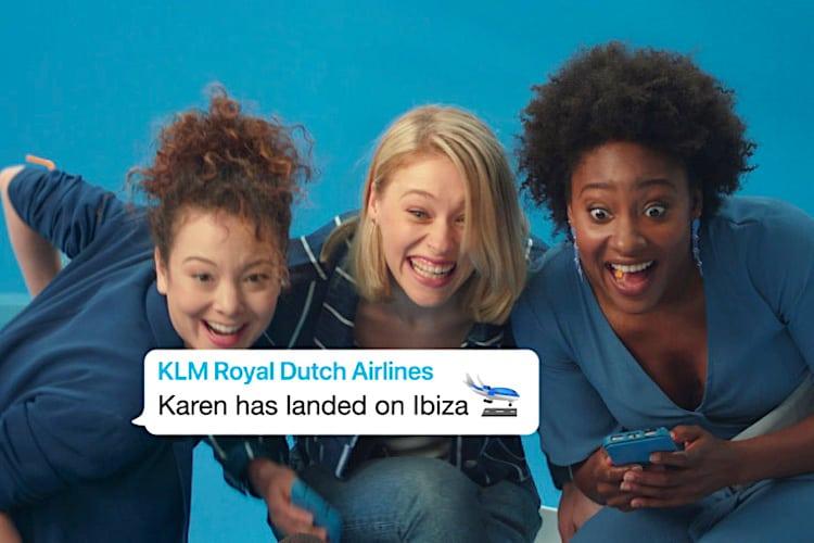 Family Updates es un servicio de KLM a través de WhatsApp