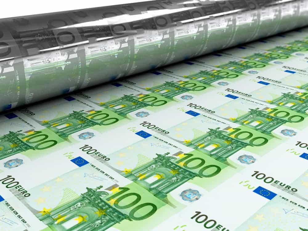 Máquina de impresión de billetes de euro