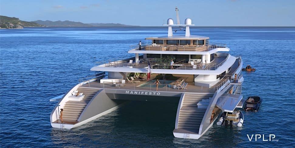 MANIFESTO: Concepto de catamarán de lujo por VPLP Design.
