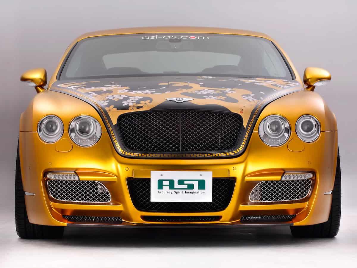 Exclusivo Bentley W66 GTS chapado en oro, una creación de ASI Co., Ltd