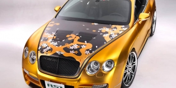 Exclusivo Bentley W66 GTS chapado en oro