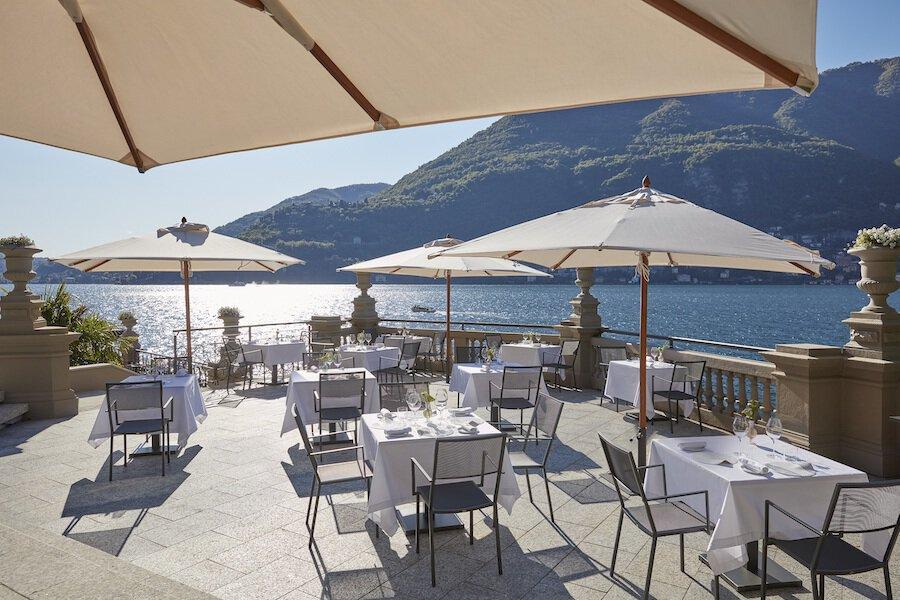 Alta cocina en la terraza de L ̃ARIA, Mandarin Oriental, Lago Como