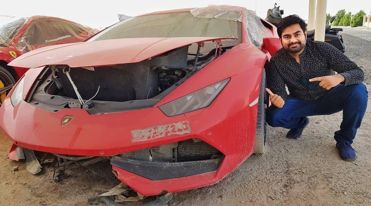 Súper coches de lujo abandonados en Dubái