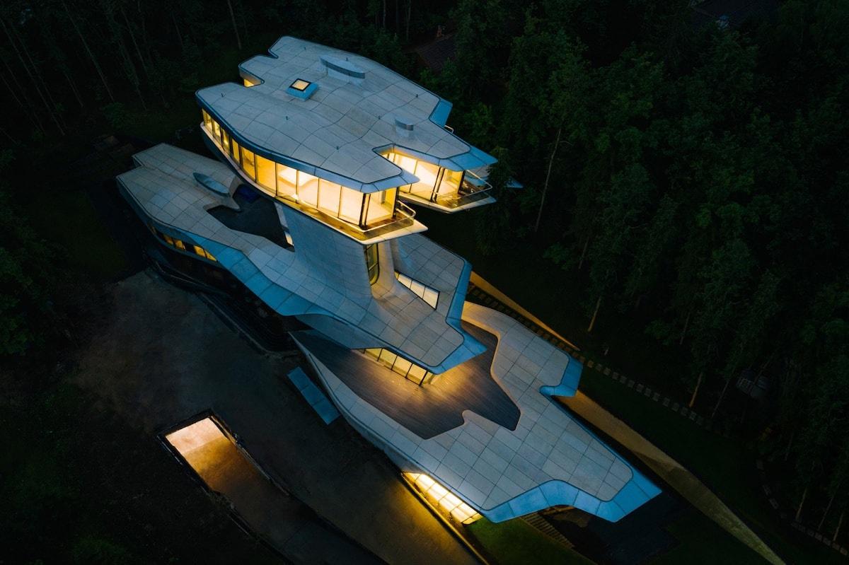 Mansión futurista del multimillonario ruso, Vladislav Doronin