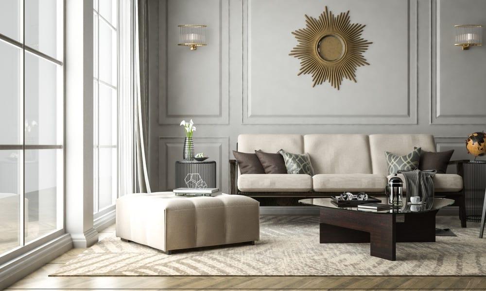 Decoración interior estilo clásico moderno