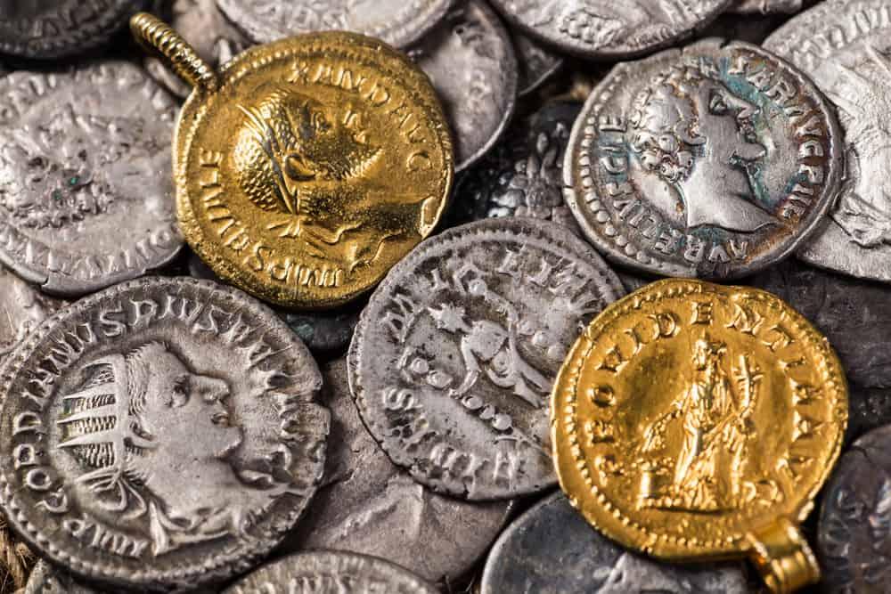 Monedas antiguas del imperio romano